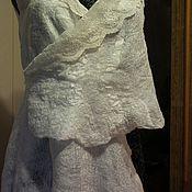 """Одежда ручной работы. Ярмарка Мастеров - ручная работа Валяный жилет """"Белая лилия"""" асимметричный. Handmade."""