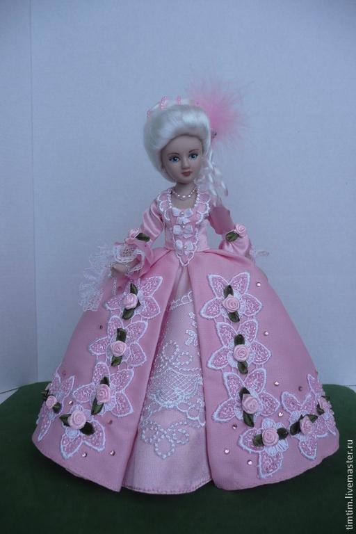 Коллекционные куклы ручной работы. Ярмарка Мастеров - ручная работа. Купить Фрейлина (продана). Handmade. Готовый фарфоровый молд, веер