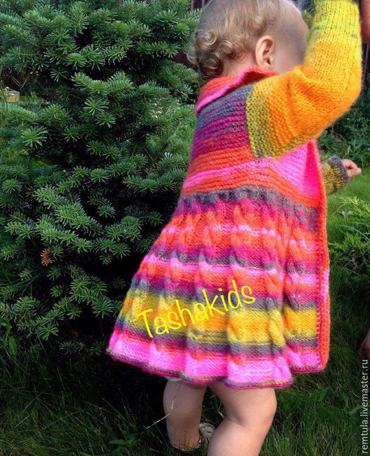 """Одежда для девочек, ручной работы. Ярмарка Мастеров - ручная работа. Купить Кофточка детская """"Радуга"""". Handmade. Фуксия, летнее пальто"""