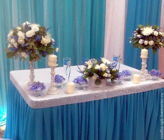 Свадебные аксессуары ручной работы. Ярмарка Мастеров - ручная работа. Купить Оформление свадебного зала в стиле Тиффани. Handmade.