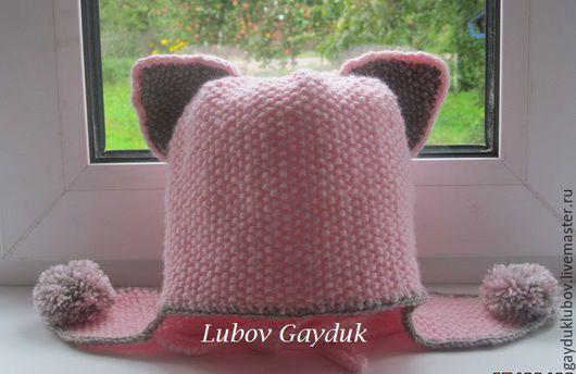 Одежда для девочек, ручной работы. Ярмарка Мастеров - ручная работа. Купить Шапочка-кошка для маленькой модницы. Handmade. Розовый, шапка