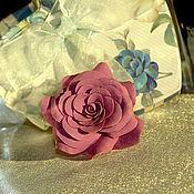"""Украшения ручной работы. Ярмарка Мастеров - ручная работа Кольцо из полимерной глины """"Сиреневая роза"""". Handmade."""