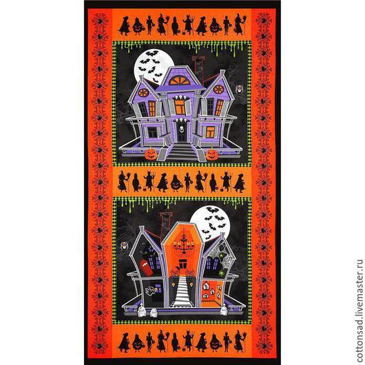 """Шитье ручной работы. Ярмарка Мастеров - ручная работа. Купить Панель. (3 вида) """"Дом с Приведениями"""". Американская ткань.. Handmade."""
