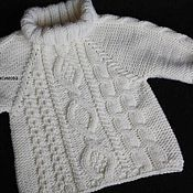 Работы для детей, handmade. Livemaster - original item Sweater knitted Royal. Handmade.