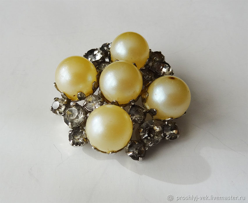 Brooch with a suit.pearl, Vintage brooches, Moscow,  Фото №1