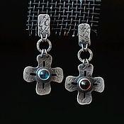 handmade. Livemaster - original item Earrings in sterling silver