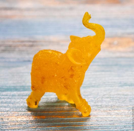 """Мыло ручной работы. Ярмарка Мастеров - ручная работа. Купить Мыло натуральное  """"Янтарный слон"""". Handmade. Желтый, янтарь"""