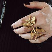 Украшения ручной работы. Ярмарка Мастеров - ручная работа Безразмерное кольцо ласточки. Handmade.