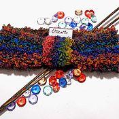 Аксессуары ручной работы. Ярмарка Мастеров - ручная работа Вязаная повязка  (полоска) на голову Чалма из букле. Handmade.