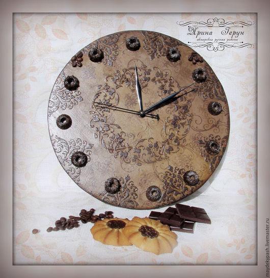 """Часы для дома ручной работы. Ярмарка Мастеров - ручная работа. Купить Часы """"Coffee chocolate"""". Handmade. Коричневый, часы необычные"""