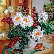 Картины и панно ручной работы. Ярмарка Мастеров - ручная работа Букет у окна. Handmade.
