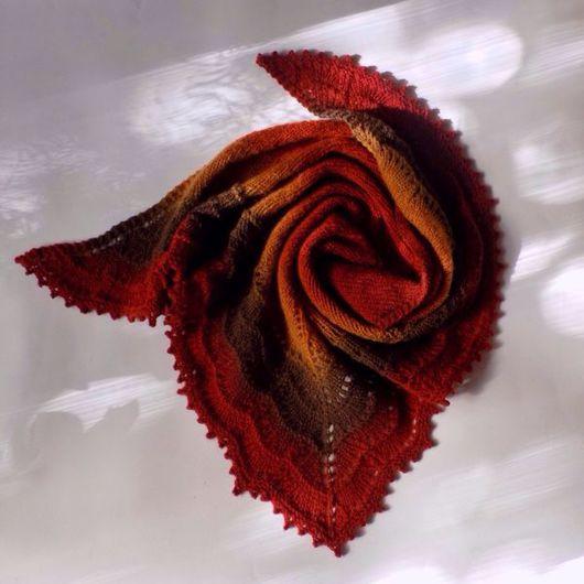 """Шали, палантины ручной работы. Ярмарка Мастеров - ручная работа. Купить Шаль """"Холден"""" из пряжи Кауни 8/2. Handmade. Шаль"""