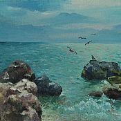 Картины ручной работы. Ярмарка Мастеров - ручная работа Картины: чайки над морем. Handmade.