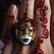 Украшения ручной работы. Ярмарка Мастеров - ручная работа Кольцо Венецианская маска. Handmade.