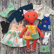 Куклы и игрушки ручной работы. Ярмарка Мастеров - ручная работа Игровая кукла Лисичка с одеждой. Handmade.