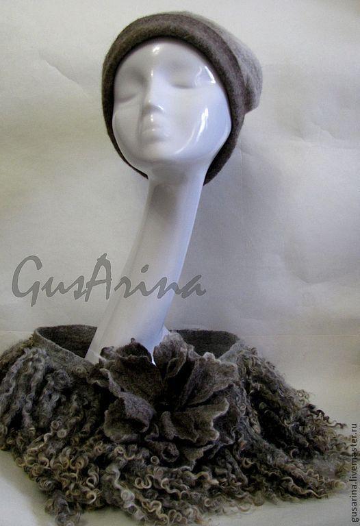 """Съемный воротник в стиле эко-мех """"Снежный цветок"""" был сделан в комплект к валенкам http://www.livemaster.ru/item/4928365-obuv-ruchnoj-raboty-valenki-snezhnyj-tsvetok"""