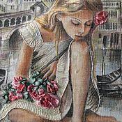 Картины и панно ручной работы. Ярмарка Мастеров - ручная работа картина Венеция по мотивам  А. Брагинского. Handmade.