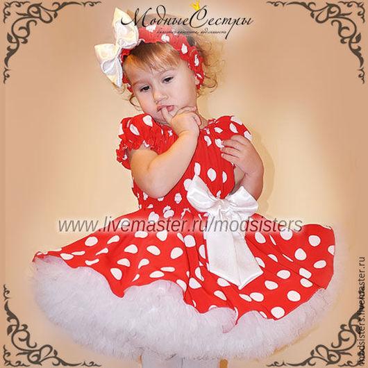 """Одежда для девочек, ручной работы. Ярмарка Мастеров - ручная работа. Купить Детское платье """"Красное белым горохом"""" Арт.312. Handmade."""