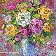 """Картины цветов ручной работы. Ярмарка Мастеров - ручная работа. Купить """"Букет с Желтыми Розами"""" - картина маслом с цветами. Handmade."""
