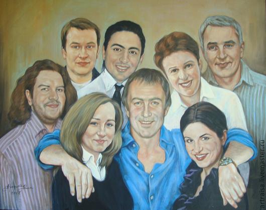 Коллективный портрет. Москва, 2011 \r\nБыл выполнен по заказу сотрудников  для директора компании.