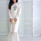 Одежда handmade. Livemaster - original item Evening designer dress familily with fatinovy flounce. Handmade.