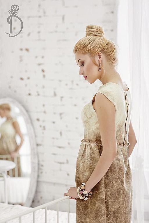 Валяное платье «Сливочное утро», Платья, Балашиха, Фото №1