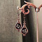 Украшения handmade. Livemaster - original item Earrings with dried flowers and epoxy resin. Handmade.