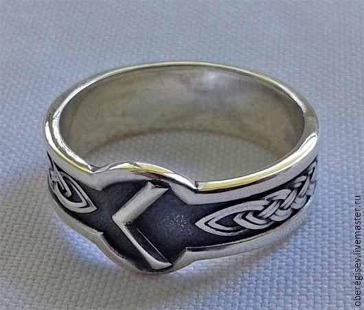 Кольцо с Руной Кано из серебра с черением 4-6 грамм -1100руб. Под заказ 5дн.;