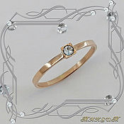 Украшения handmade. Livemaster - original item Mini-week ring 585 gold, Topaz.. Handmade.