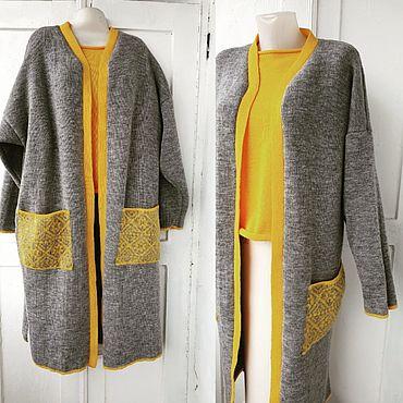 Одежда ручной работы. Ярмарка Мастеров - ручная работа Кардиган и блуза. Handmade.