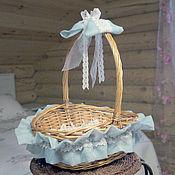 Подарки к праздникам ручной работы. Ярмарка Мастеров - ручная работа Плетеная корзина декорированная Блажь. Handmade.