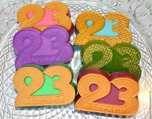Мыло ручной работы. Ярмарка Мастеров - ручная работа. Купить мыло 23 февраля. Handmade. Разноцветный, мыло для детей