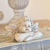 Для дома и интерьера handmade. Livemaster - original item Cute angel mini, table figurine of concrete vintage style. Handmade.