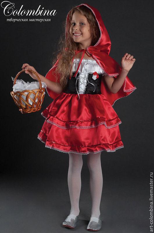 Детские карнавальные костюмы ручной работы. Ярмарка Мастеров - ручная работа. Купить костюм красной шапочки. Handmade. Ярко-красный