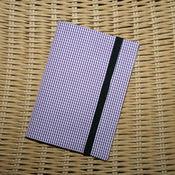 Канцелярские товары ручной работы. Ярмарка Мастеров - ручная работа Обложка для паспорта Фиолетовая клеточка. Handmade.