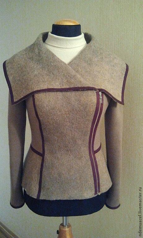 Пиджаки, жакеты ручной работы. Ярмарка Мастеров - ручная работа. Купить Куртка-жакет. Handmade. Бежевый, вискозный шёлк
