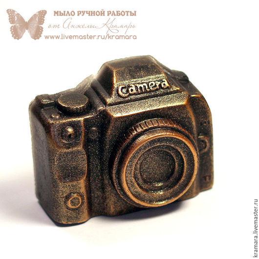 """Мыло ручной работы. Ярмарка Мастеров - ручная работа. Купить Мыло """"Фотоаппарат"""". Handmade. Черный, подарок на 23 февраля"""