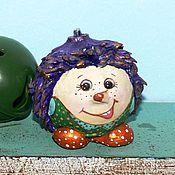 Куклы и игрушки ручной работы. Ярмарка Мастеров - ручная работа новый год игрушки на елку Ежик  в горошек. Handmade.