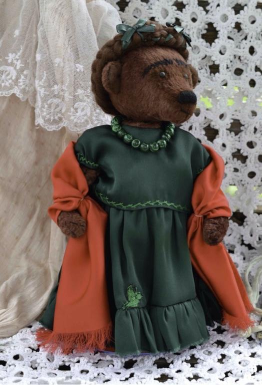 """Мишки Тедди ручной работы. Ярмарка Мастеров - ручная работа. Купить Мишка из коллекции """"Моя Фрида"""". Голубка. Handmade."""