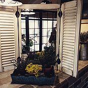 Для дома и интерьера ручной работы. Ярмарка Мастеров - ручная работа Зеркало со ставнями Прованс. Handmade.