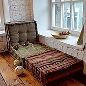Для дома и интерьера ручной работы. Ярмарка Мастеров - ручная работа Пуф на заказ (мягкая мебель) 50 на 50 см.. Handmade.