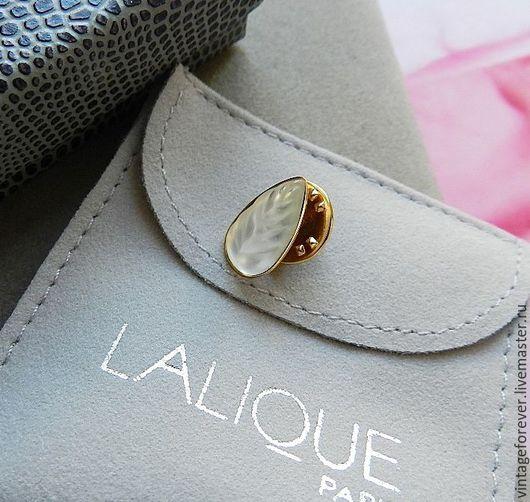 """Винтажные украшения. Ярмарка Мастеров - ручная работа. Купить Брошь Lalique """"Геликония"""", Лалик, Франция, хрусталь. Handmade. Хрустальная брошь"""