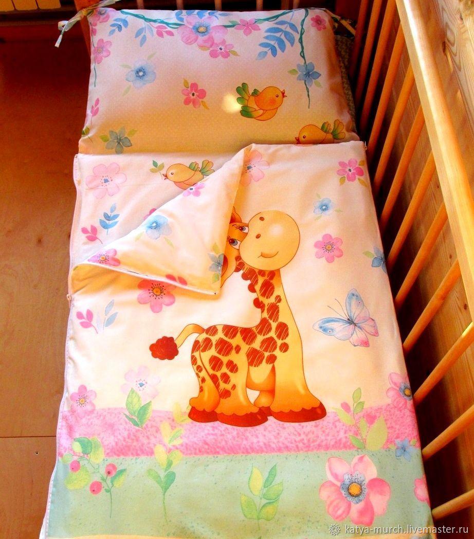 """Детская ручной работы. Ярмарка Мастеров - ручная работа. Купить Детский спальник """"Весёлый жираф"""". Handmade. Жираф, постельное белье"""