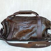 Сумки и аксессуары handmade. Livemaster - original item Travel bag made of genuine Python leather. Handmade.