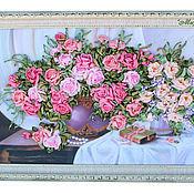 """Картины и панно ручной работы. Ярмарка Мастеров - ручная работа """" Цветы в подарок"""". Handmade."""