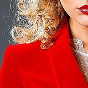 """Одежда ручной работы. Ярмарка Мастеров - ручная работа Пиджак бархатный """"Королевский пурпур"""". Handmade."""