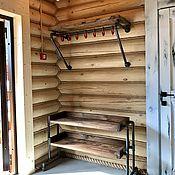Для дома и интерьера handmade. Livemaster - original item Hanger and shoe rack made of water pipes (project