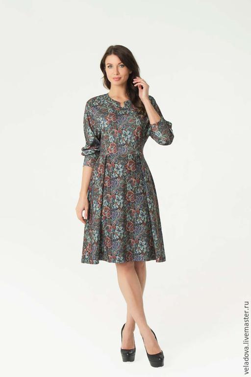 """Платья ручной работы. Ярмарка Мастеров - ручная работа. Купить Платье """"Осень в городе""""2. Handmade. Разноцветный, платье с цветами"""