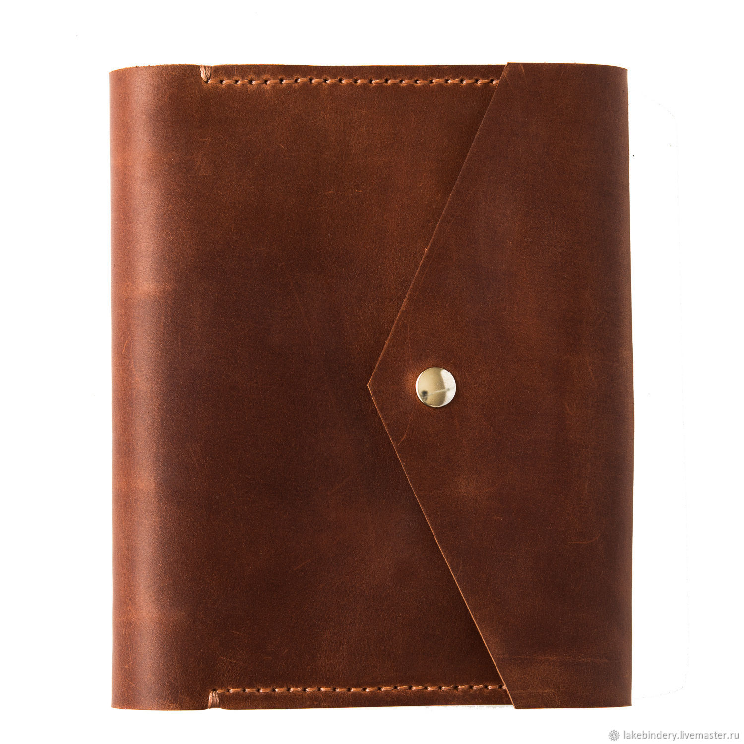 Leather notebook with pocket hand sewn seam, Diaries, Moscow,  Фото №1