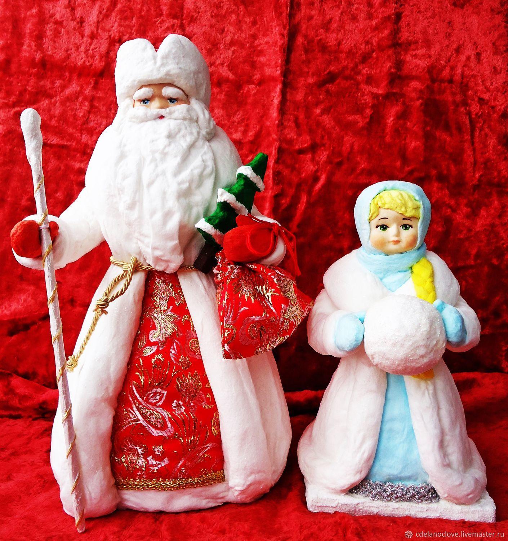 Дед мороз и снегурочка игрушки на новый год